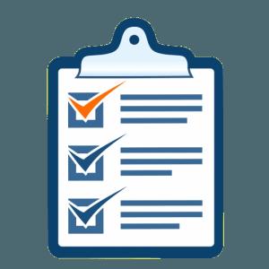 Easy process for digital marketing checklist icon
