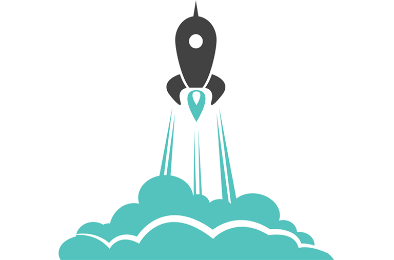 small business growth rocket ship